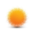 Abstract orange fluffy isolated sphere with shadow vector image vector image