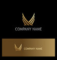 abstract wing gold company logo vector image vector image