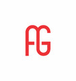 ag logo simple and clean design vector image vector image