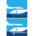 air transportation vector image vector image