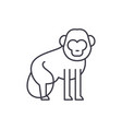 baboon line icon concept baboon linear vector image