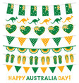 banner decoration in national colors of australia vector image vector image