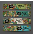 banner templates with doodles summer vector image