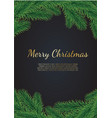 banner with christmas tree branches and vector image