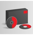 Blank software box with disc vector image vector image