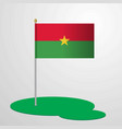 burkina faso flag pole vector image