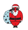 Character of Santa Claus in Glasses vector image vector image