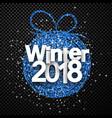 checkered winter 2018 card vector image