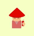 china man of chinese new year vector image vector image