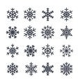 Christmas snowflakes isolated vector image vector image
