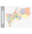 colorful bangkok administrative and political map vector image vector image
