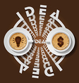 cups of light bulb and dollar sign in cappuccino vector image vector image