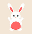 cute white easter bunny graphic vector image vector image