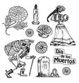 day of the dead mexican national holiday with the vector image vector image