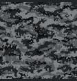 digital camouflage seamless pattern black vector image