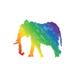 Elephant abstract isolated vector image