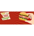 Fast food flat advert banner vector image