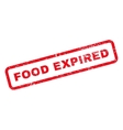 Food Expired Text Rubber Stamp