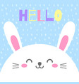 funny cartoon card with hare happy character vector image vector image