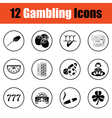 Gambling icon set vector image vector image