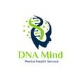 gene health mind logo designs simple modern vector image vector image