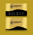 golden black business card template vector image vector image