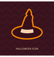 Halloween Witch hat silhouette icon vector image vector image