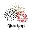 Happy New Year greeting card invitation Brush vector image vector image