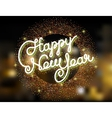 Happy New Year invitation vector image vector image
