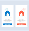 home instagram interface blue and red download vector image vector image