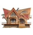 House of boss vintage building with ornament vector image