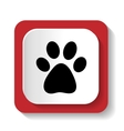icon with the image of an animal paw vector image