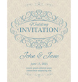invitation with calligraphy design elements vector image vector image