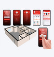 mobile phone controls smart home vector image