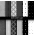 Monochrome Patterns Set vector image