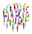 people in crowd vector image