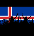 people silhouettes celebrating iceland national vector image vector image
