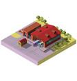 railway transport depot hangar isometric vector image vector image