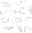 realistic detailed 3d milk splash seamless pattern vector image vector image