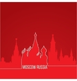 Russia Moscow Concept for web banner One line vector image