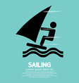Sailing Sport Symbol vector image vector image