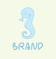sea horse logo vector image