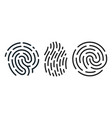set fingerprint icons vector image