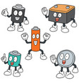 set of battery vector image vector image