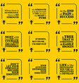 Set of motivational quotes about struggle strength vector image