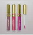 set of realistic liquid lipstick 3d vector image