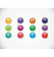 Set with buttons vector image vector image