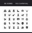 simple icons rio carnival vector image