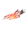ski snow winter sport extreme concept vector image vector image