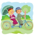 small children on vintage vector image